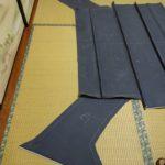 縦目ベンツの天井内装縫製完了!