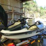 ジムニーのマフラー発送準備とXLの洗艇
