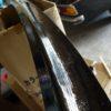 縦目ベンツの窓枠内側の塗装