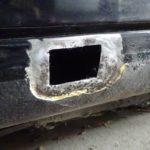 縦目ベンツのサイドシル錆穴修理(その1)