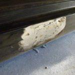 縦目ベンツのサイドシル錆穴修理(その3)