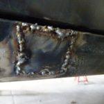 縦目ベンツのサイドシル錆穴修理(その5)