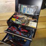 出撃準備と携行工具箱の整理