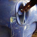 4TECのハル傷補修とバウストッパーの補修