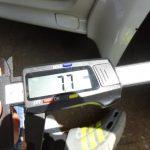 エリシオンのタイヤ残溝測定とコペンの洗車