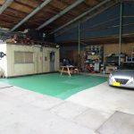 保管場所床の塗装(2回目)