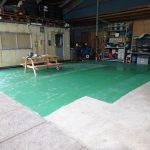 保管場所床の塗装(塗装範囲確定)