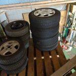冬タイヤのお片付けとサンバーの電動パワステ配線延長
