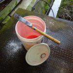 トレッドミルの移動とオイルペール缶の洗浄・分解