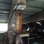 トレーラーの計測とサンバー・トラックの荷台固定