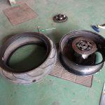 GSX-Rのリヤタイヤパンクからのタイヤ交換